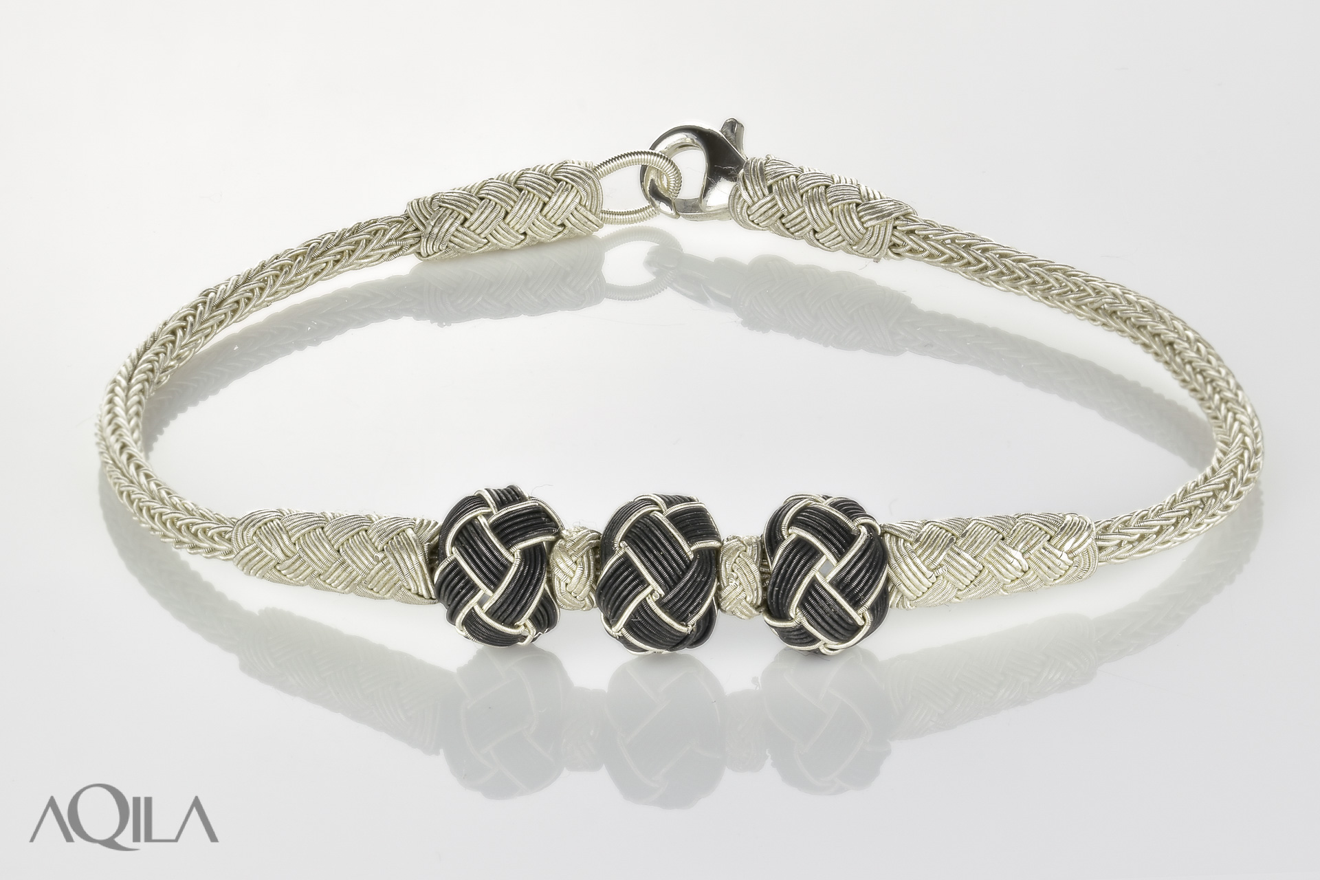 999 Silber Kordel Armband mit 3 Knotenperlen, Freundschaftsband, Kazaziye,  10527 f491150132