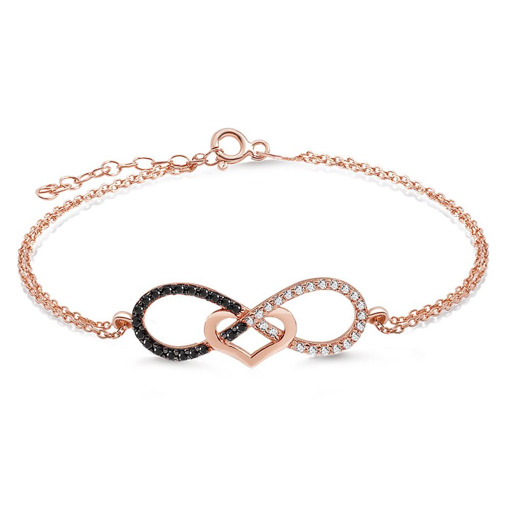 aqila aqila damen armband unendliche liebe infinity love. Black Bedroom Furniture Sets. Home Design Ideas