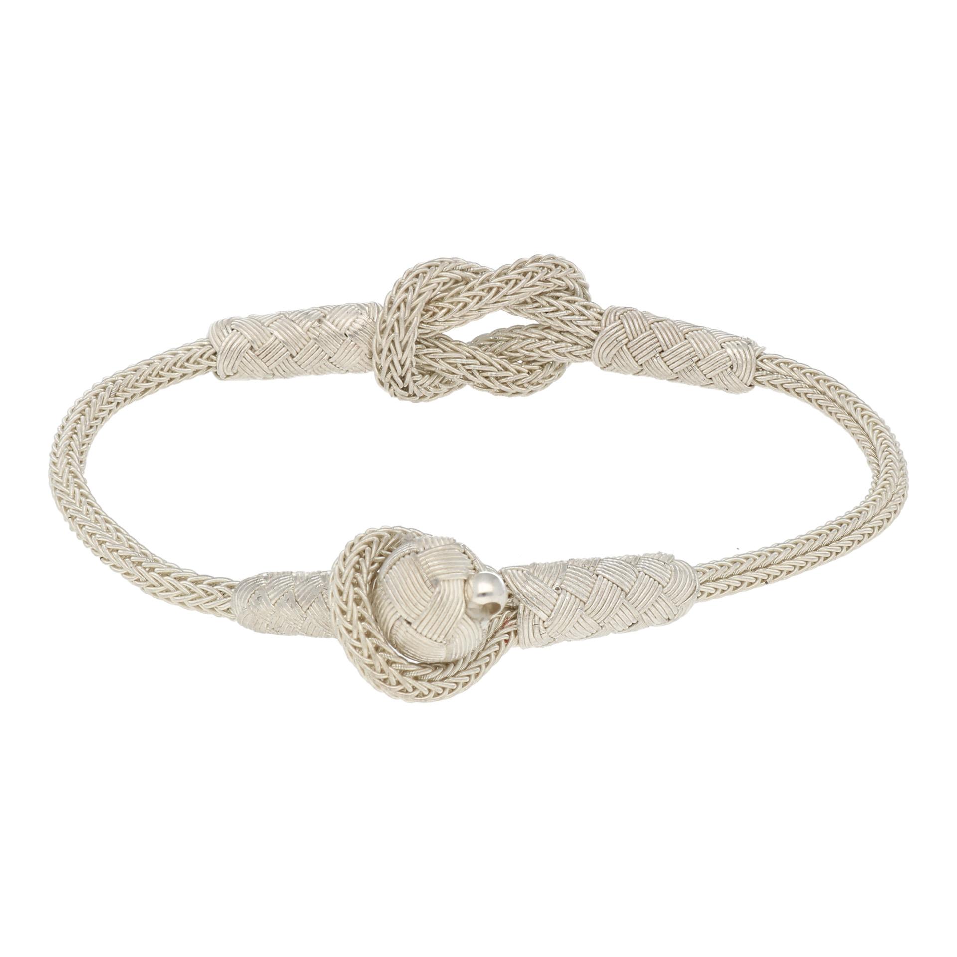 999 Silber Kordel Armband mit Herkulesknoten, Liebesknoten, 10530 0b5ee5745f