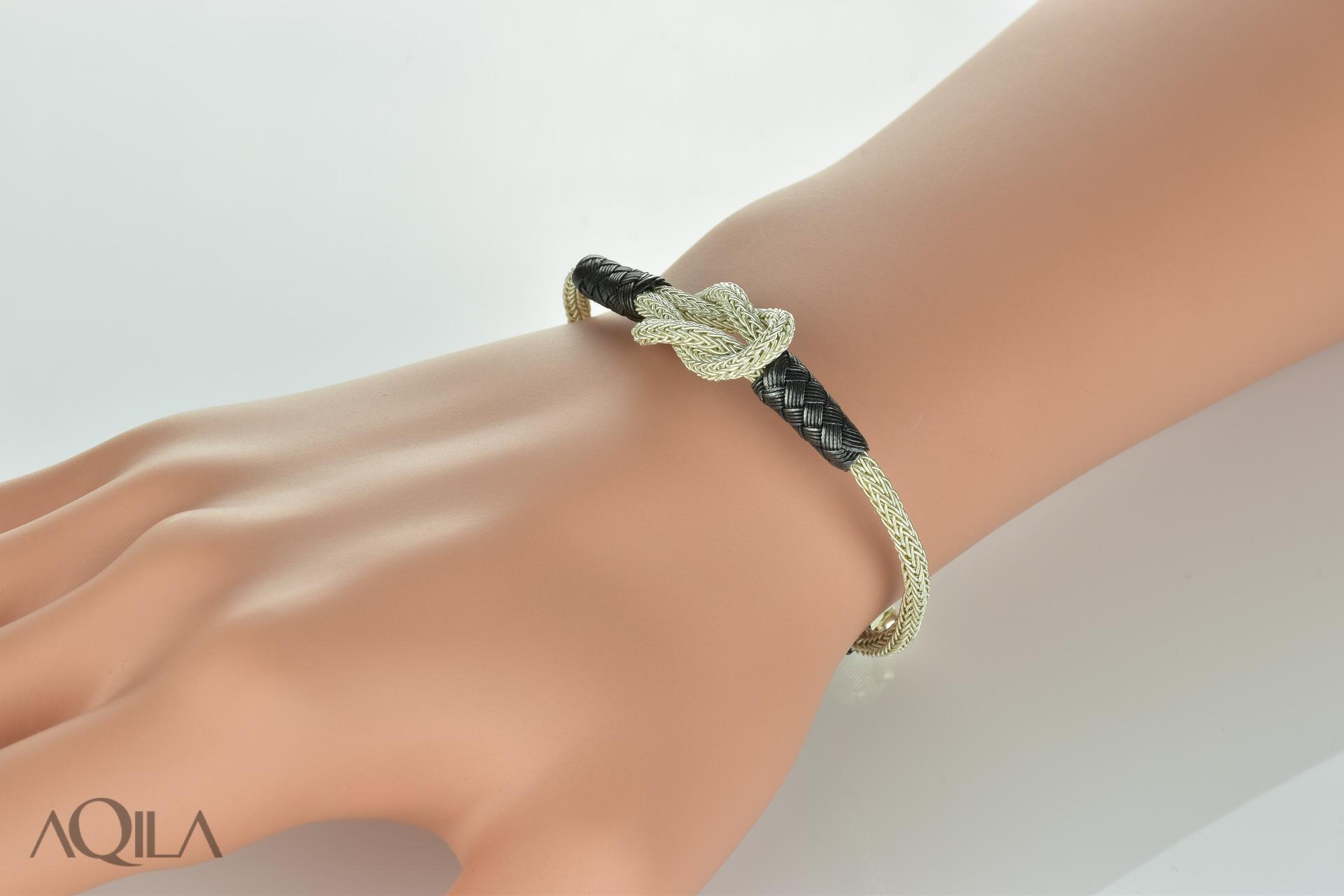 999 Silber Kordel Armband mit Herkulesknoten, Liebesknoten,  Freundschaftsarmband 078ac30f73